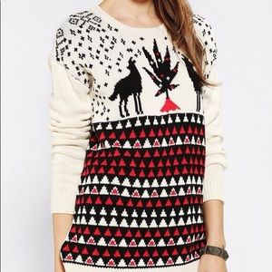 Urban Outfitters BDG Knit Wolf Oversized Sweater